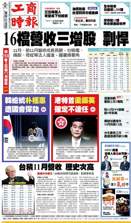 工商時報 2016年12月10日